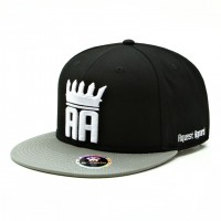 rkd x aquest apparel flat brim 6 panel snapback