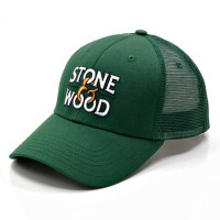 RKD x Stone & Wood curved brim 6 panel buckram trucker