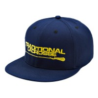 rkd x traditional lacrosse flat brim 6 panel stretch band
