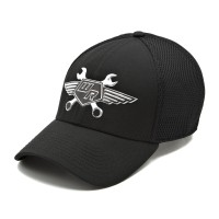 rkd x wrench racer curved brim 6 panel stretch band