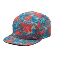 RKD flat brim 5 panel camp cap