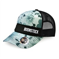 rkd x boonstock curved brim 5 panel foam trucker
