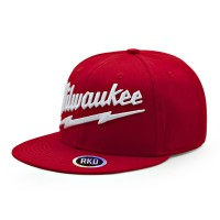 rkd x milwaukee flat brim 6 panel snapback
